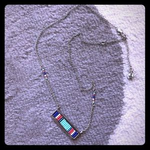 Calvin Klein colorful bar necklace